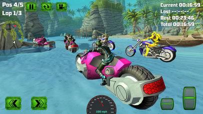 Water Surfing Bike Race screenshot 1