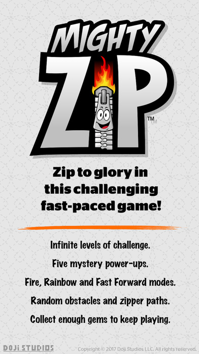 Mighty Zip launches for iOS - Zipper Racing Arcade Action Game Image