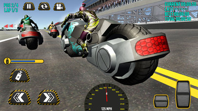 Superheroes Moto Bike Racing screenshot 4