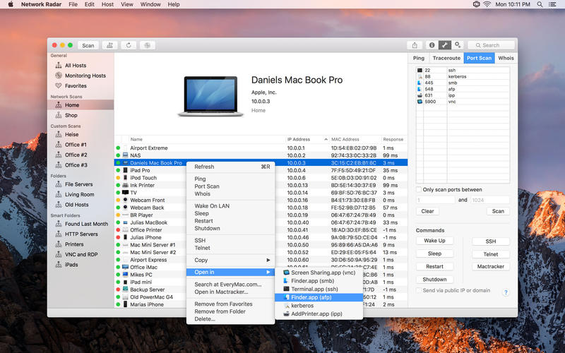 Network Radar for Mac 2.4 破解版 – Mac上优秀的网络扫描和管理工具-麦氪派