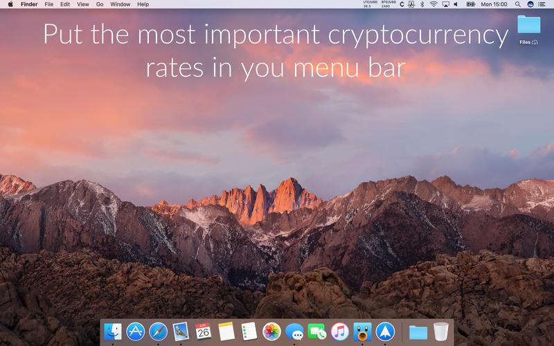 Cryptey - a menu bar cryptocurrency ticker Screenshots