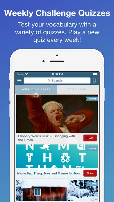 Merriam-Webster Dictionary & Thesaurus Screenshots