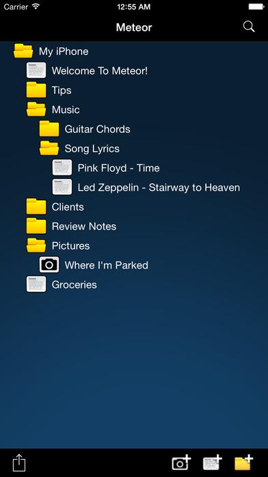 Meteor Notes Screenshots