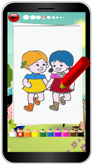 Children In The City Colouring Books Game screenshot 3