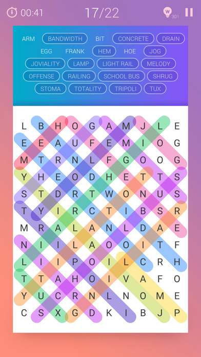 Screenshots of Word Search Pro‧ for iPhone