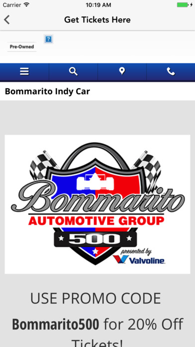 App Shopper Bommarito Automotive Group Business
