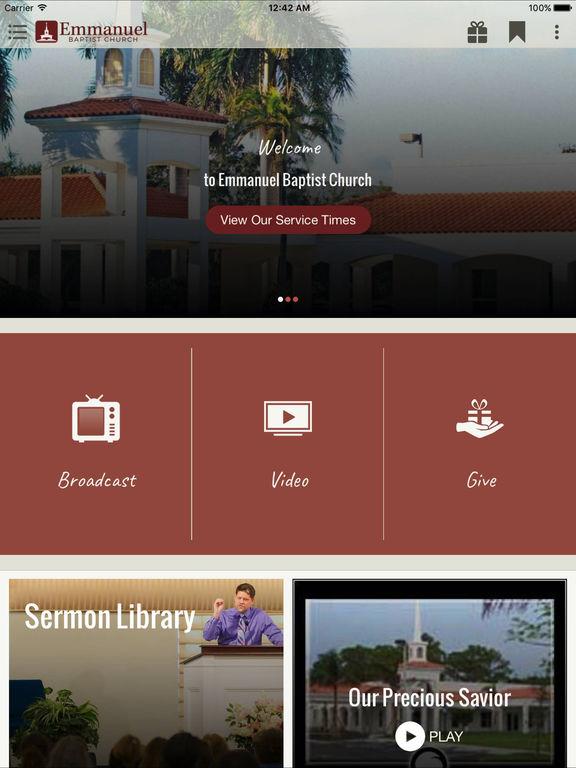 Screenshot #1 for Emmanuel Baptist Church, Coconut Creek FL