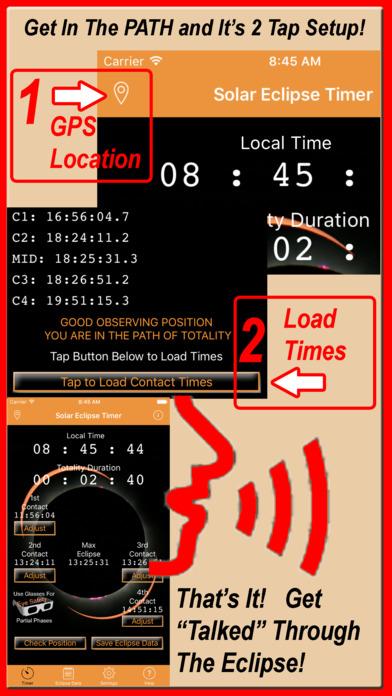 Solar Eclipse Timer Screenshot