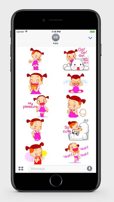 Kids: Little Girl 2 Stickers screenshot 3