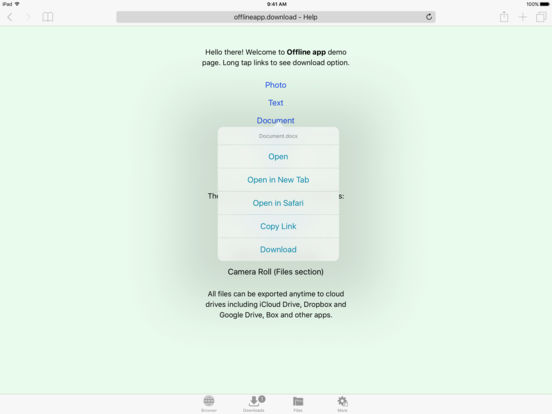 Screenshots of File Manager for Web Cloud Drive for iPad