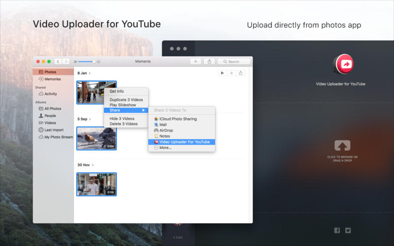 Video Uploader for YouTube Screenshots