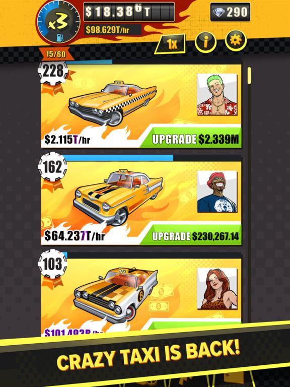 Crazy Taxi Gazillionaire Screenshots