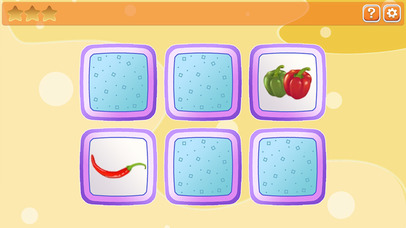 Memory for kids: fruit and vegetables screenshot 1