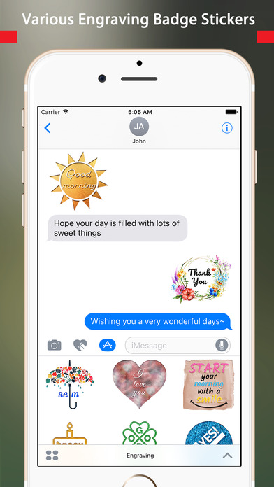 engraving animated chat badge stickers app download. Black Bedroom Furniture Sets. Home Design Ideas
