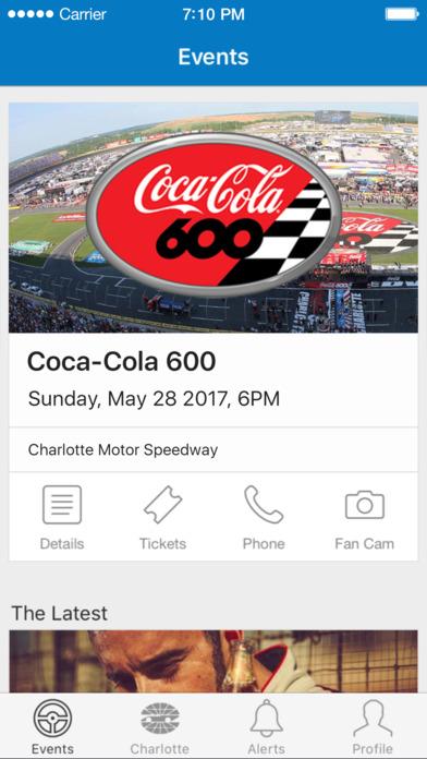 Charlotte motor speedway on the app store for Daytona motor speedway schedule