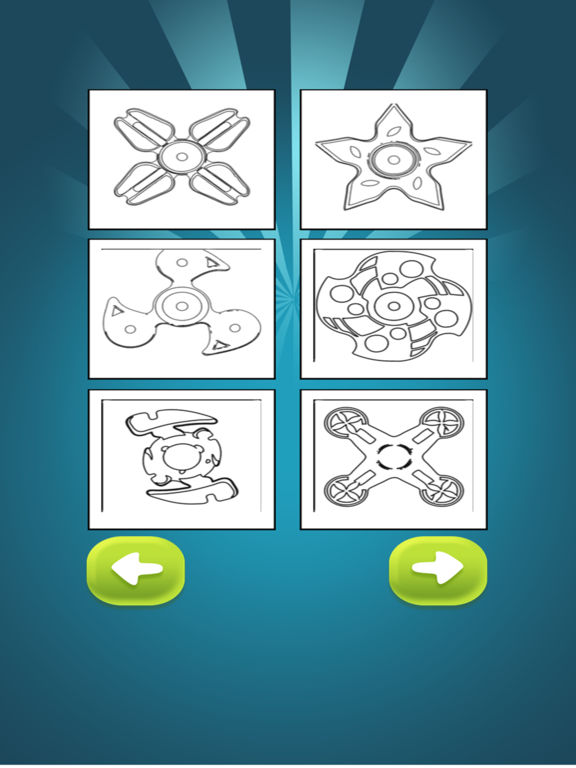 Fidget Spinner Coloring Book для iPad