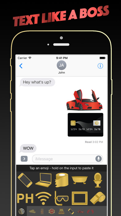 LUXEJI - VIP Lifestyle Luxury Emoji Keyboard Screenshots