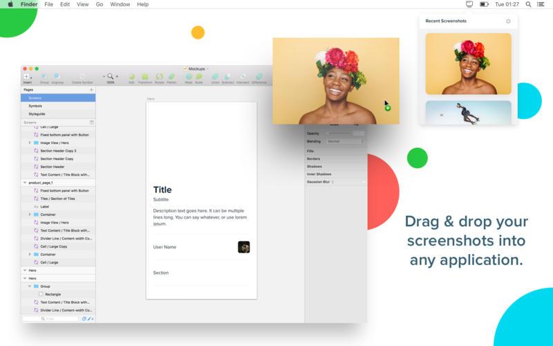 Shotty - Screenshots on your menu bar for Mac