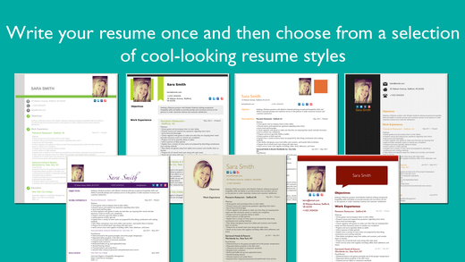 Resume Designer Pro: Produce elegant Resumes Screenshots