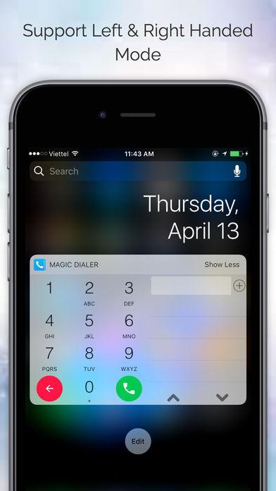 Magic Dialer Pro with Notification Center Widget Screenshot