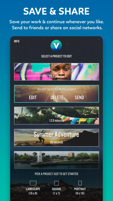 Screenshots of Video Editor Videorama - FX and Music Movie Maker for iPhone
