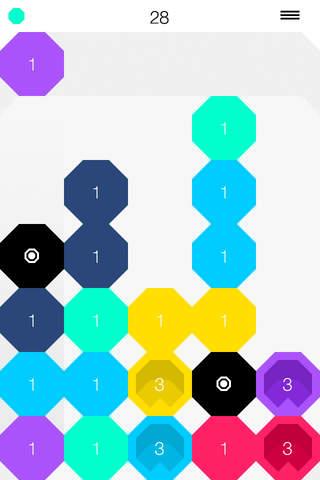 Matchagon - a minimalistic Drop Block Puzzle screenshot 3