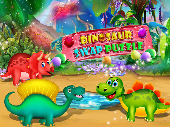 Dinosaur swap puzzle screenshot 6