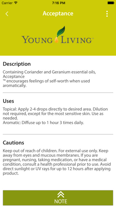 Essential Oils Reference Guide App screenshot 2