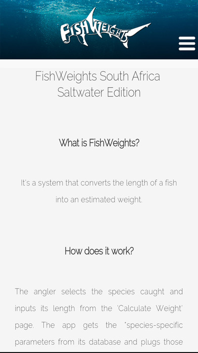 FishWeights South Africa Saltwater Edition screenshot 3