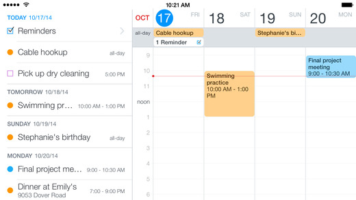 Fantastical 2 for iPhone - Calendar and Reminders Screenshots
