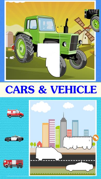 автомобиль Дети Изучение : машинки грузовики пазлы Скриншоты3
