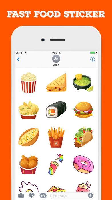 Fast Food Stickers For iMessage screenshot 4