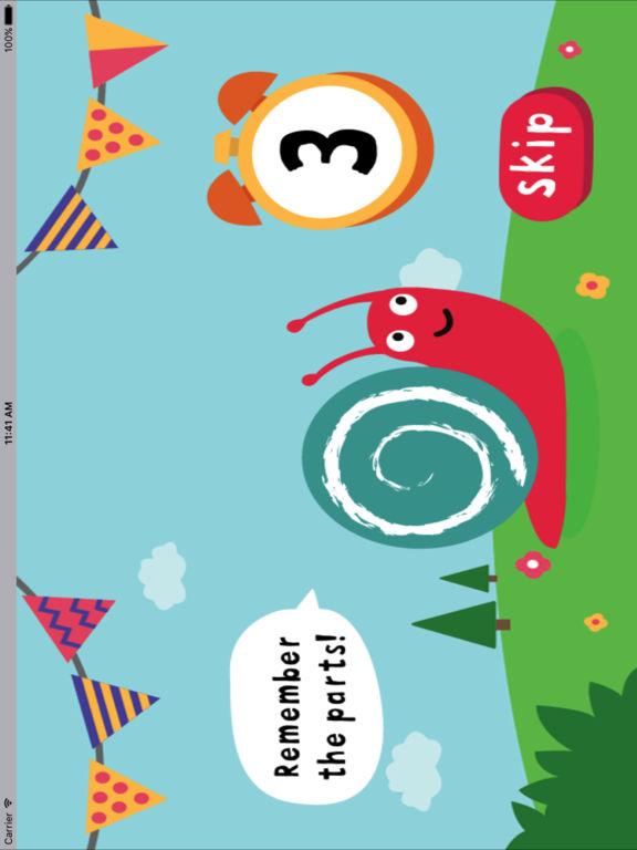 动物部位建立-认知拼图小游戏 screenshot 6