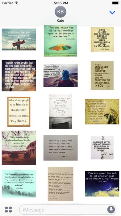 C.S. Lewis Quotes -- Inspiring Stickers screenshot 2