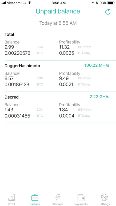 Nicestats Pro: Nicehash screenshot 2