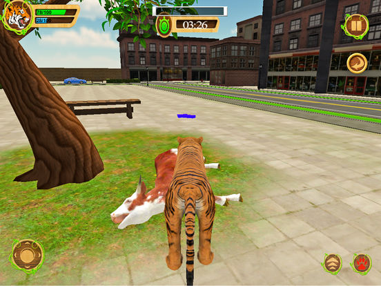 Wild Tiger Beast City Attack screenshot 5