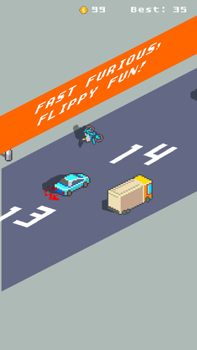 Overtake King released for iOS/Android: Pixel Art Isometric Driving Game Image