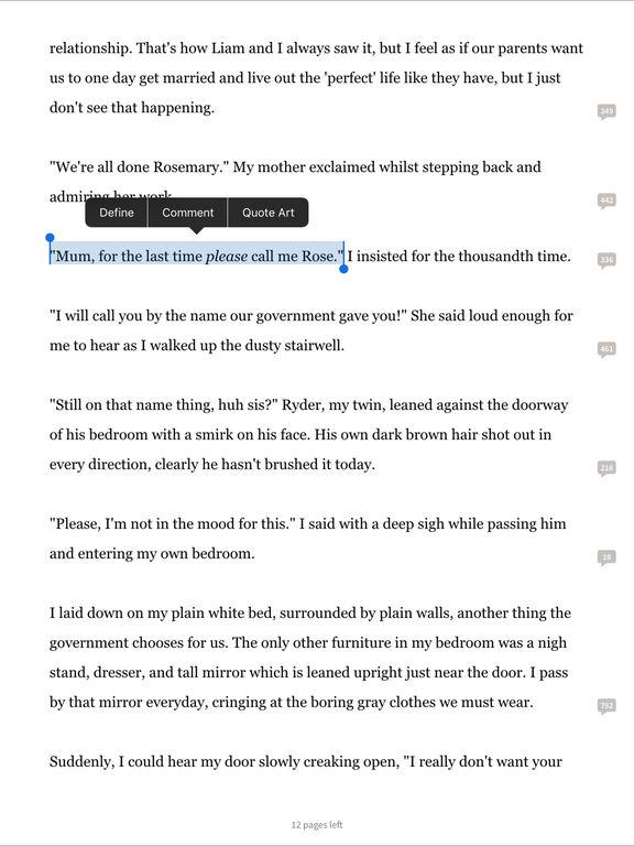 Screenshots of Wattpad - Free Books for iPad