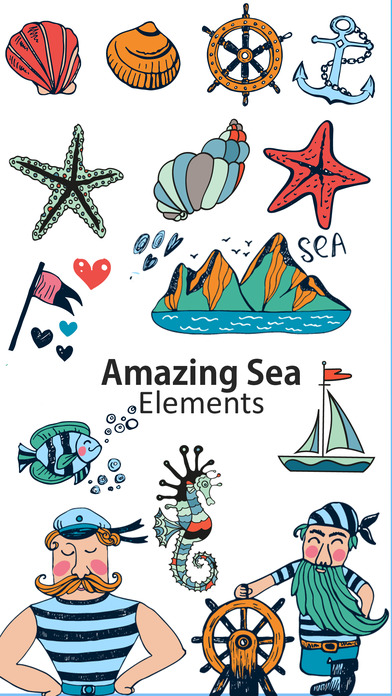 Sea Life Stickers screenshot 1