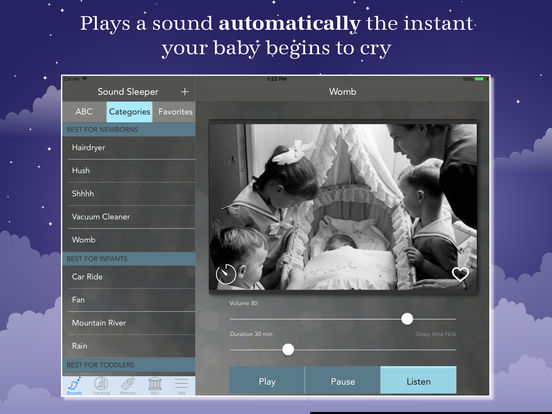 Sound Sleeper: white noise machine for baby sleep