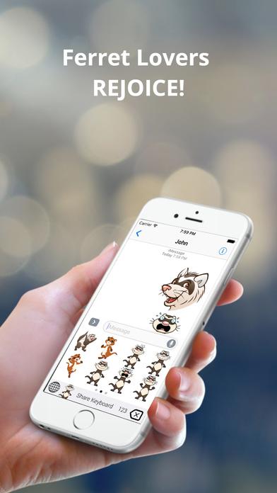 FerretEmoji - Ferret Keyboard & Stickers Screenshot