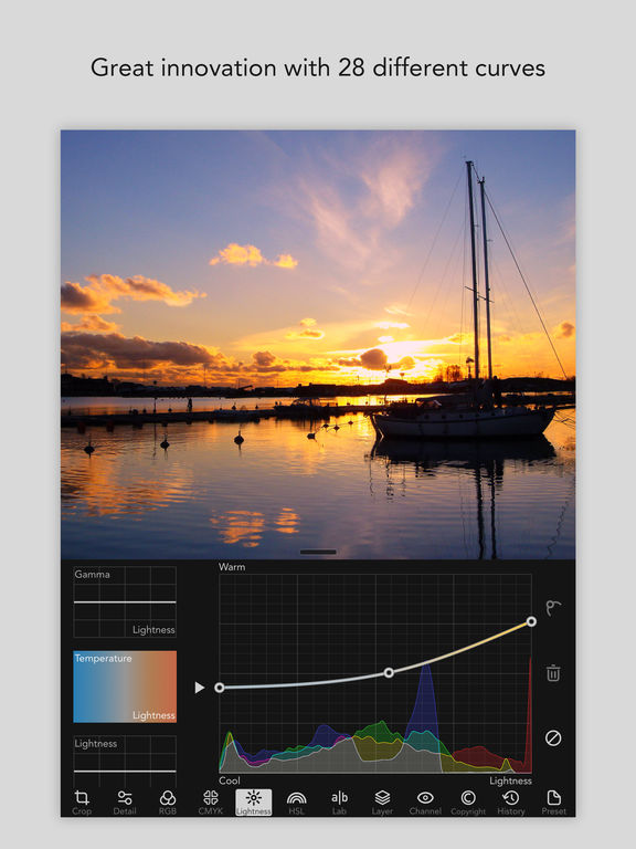 MaxCurve - Photo editor for pro photography Screenshots