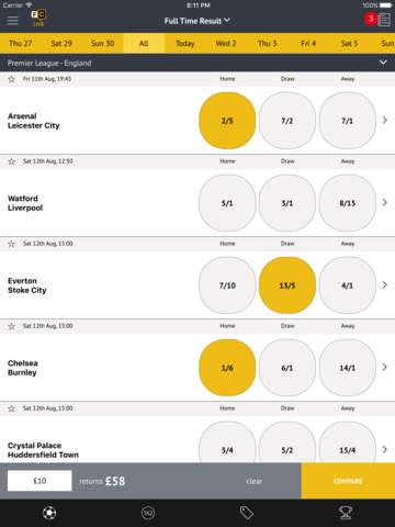 Football Coupon betting - best odds screenshot 1