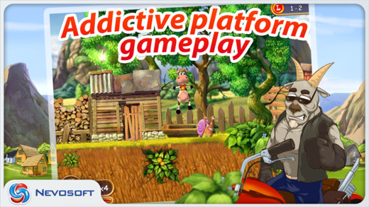 Supercow: funny farm arcade platformer Screenshots