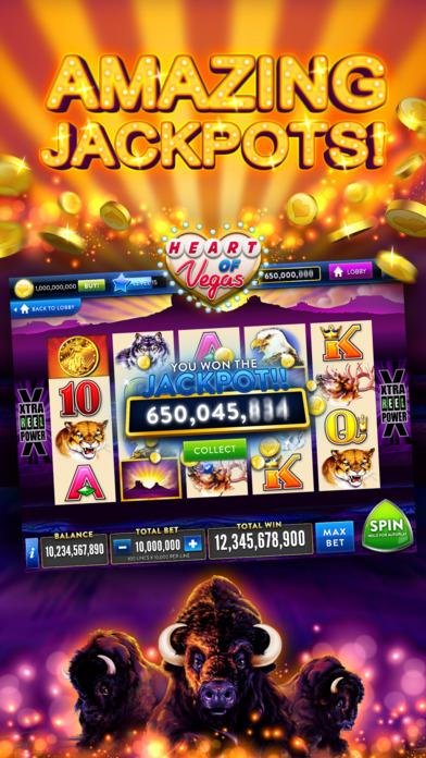 Heart of Vegas Slots Casino screenshot