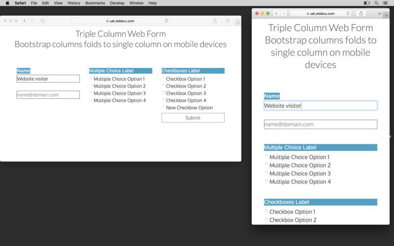Wolf Responsive Form Maker Mac 破解版 网页设计应用-麦氪搜(iMacso.com)