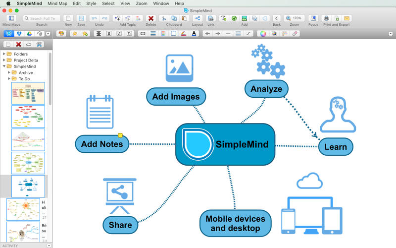 思维导图工具 SimpleMind for Mac