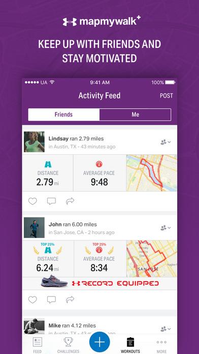 Map My Walk+ - GPS Walking & Step Tracker Screenshots