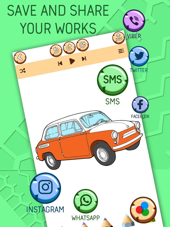 Автомобиль Раскраски Для Детей - Игра Покраска Скриншоты7