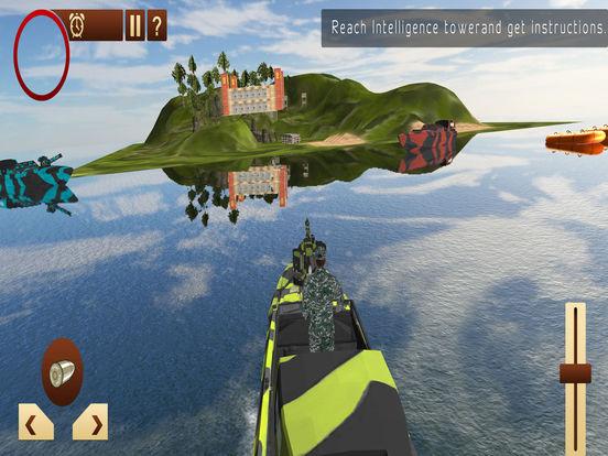 Армия Лодка Море Пограничный патруль - Современная на iPad